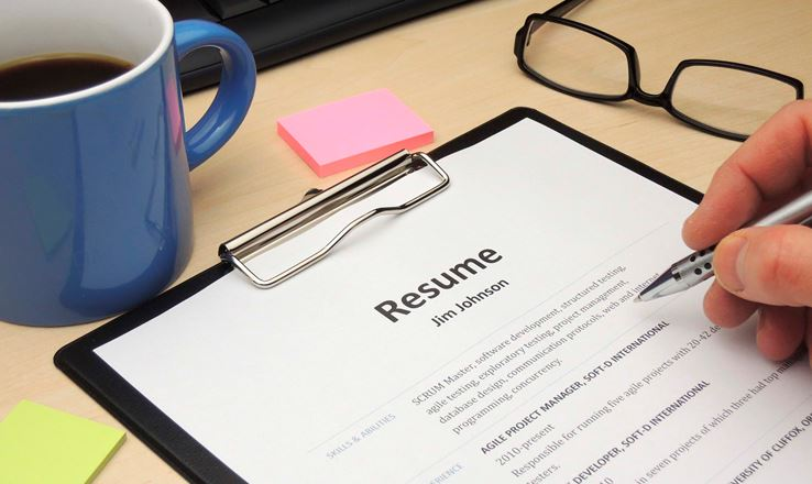 leave off resume